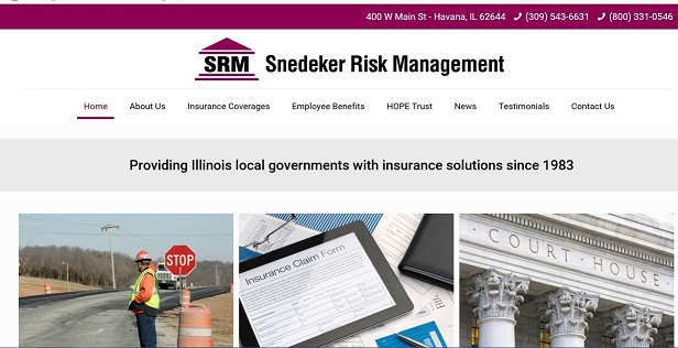 SRM Website front page